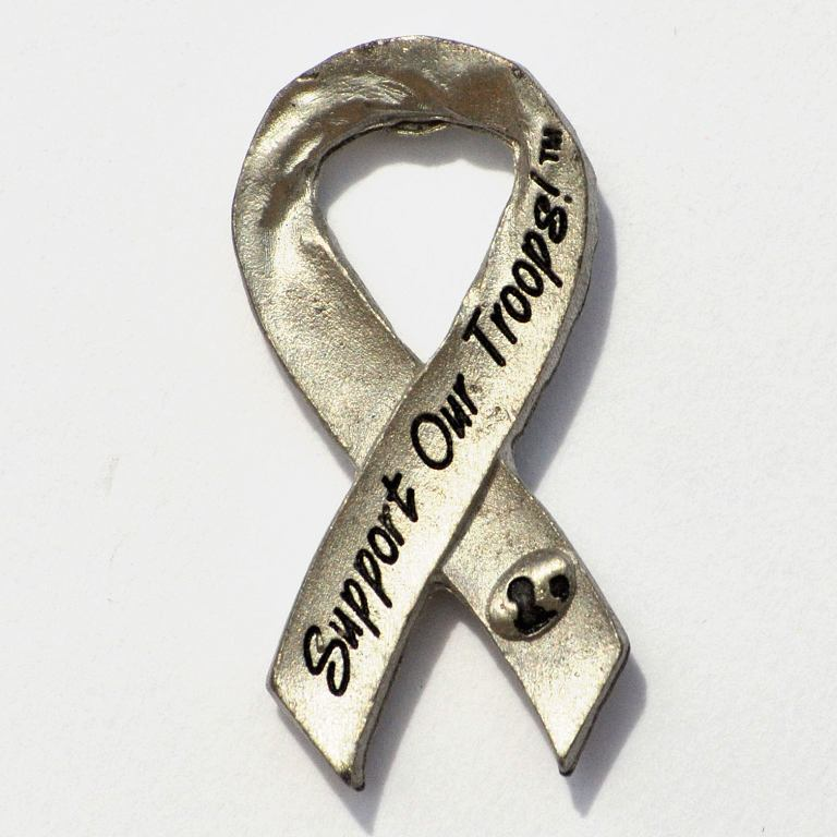 Support Our Troops® Pewter Ribbon Pin Lapel Pin