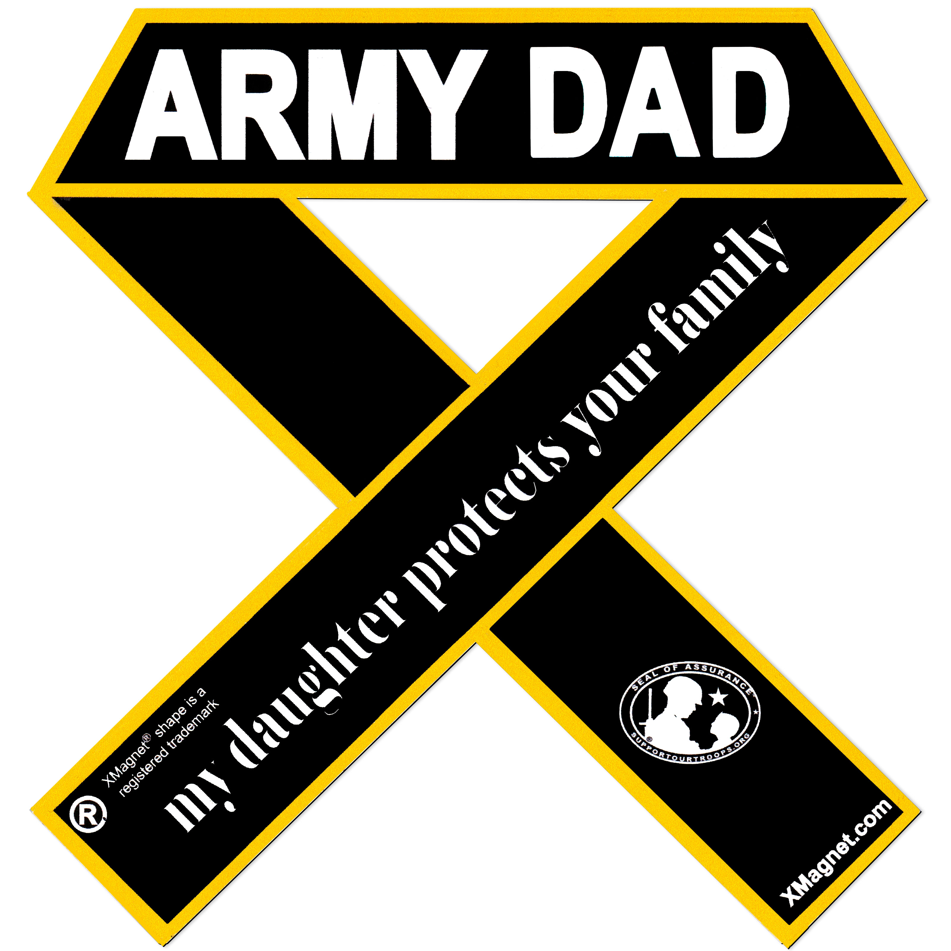 My Daughter Protects Your Family Xmagnet Vehicle Ribbon Car Magnet Decal SUPPORT OUR TROOPS Army Dad