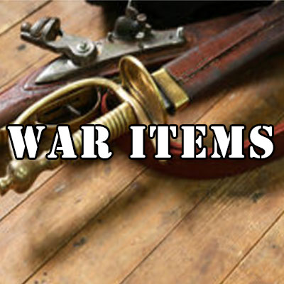 War Relics, War Weapons, War Memorabilia, War Trophies