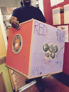 support our troops donation box red robin