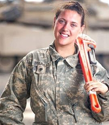 support our troops female tank mechanic