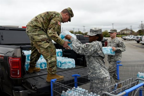 support our troops texas soldiers flint water