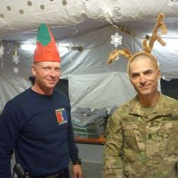 CSM Walls and MSG Hughes Helmand Province Afghanistan, December 25, 2016 supportourtroops.org