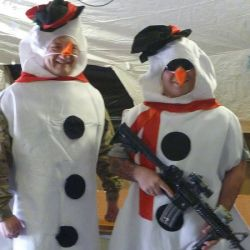 Combat Snowmen Helmand Province Afghanistan, December 25, 2016 supportourtroops.org