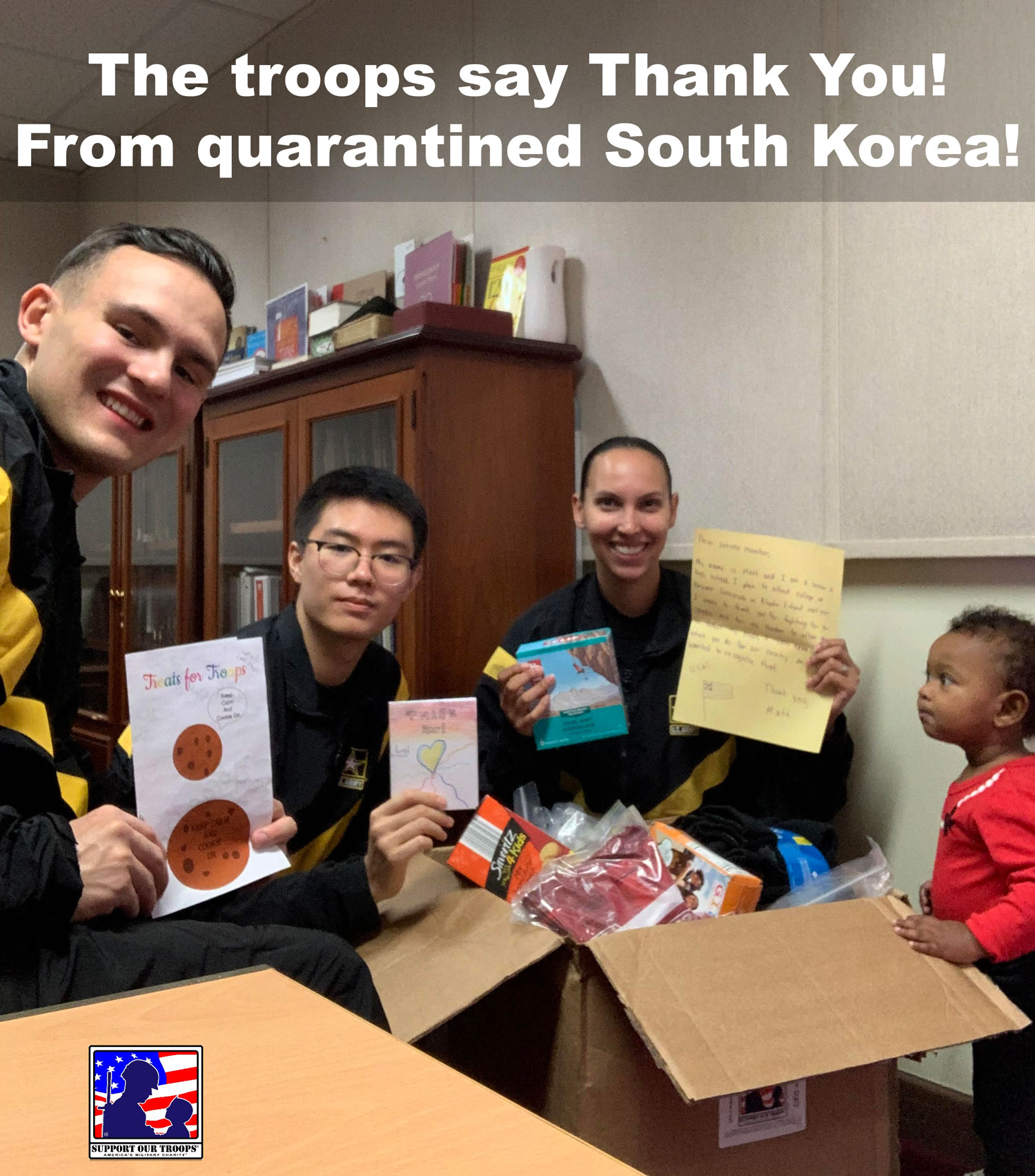 troops say thank you from quarantined south korea - support our troops