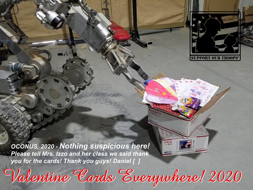 OCONUS 2020 -   Nothing suspicious here! Please tell Mrs. Izzo and her class we said thank you for the cards!  Thank you guys!  !! Daniel [  ]