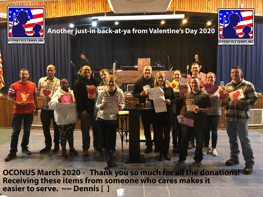 Valentines Day 2020 Thank You Support Our Troops Org