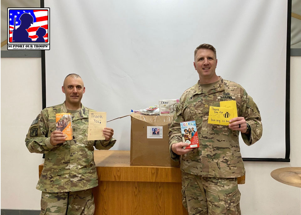SW Asia 2020  - Thank you so much! The packages were perfect and much needed!  ~~ Andrew [  ], U. S. Army