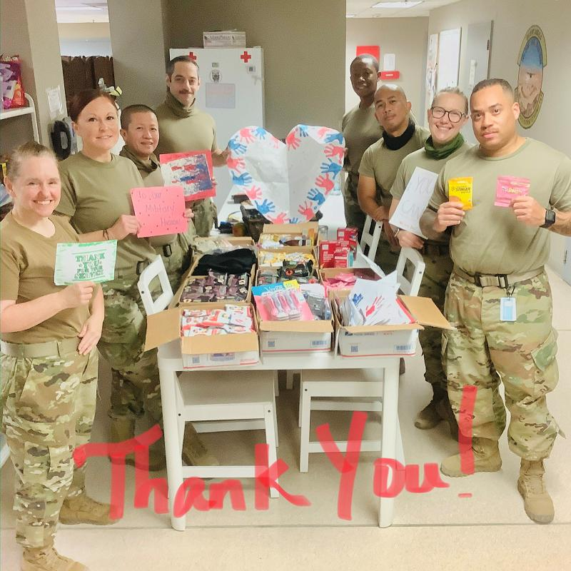 OCONUS November, 2020 - I wanted to let you know that we received the packages. Thank you and all who were involved in putting together the generous donations. It warms our hearts to have such amazing support for the troops. May your holidays be filled with lots of love and joy. Thank you again!  V/R  Amber [  ] TSgt, USAF, 379th EMDG/ERPSF