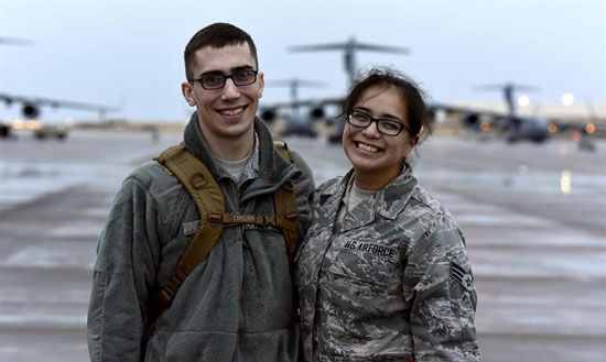 Married Airmen Serve Together supportOurTroopsOrg 500
