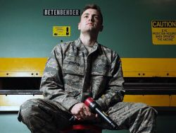 Airman 1st Class Lukas Johnson is an aircraft structural maintenance technician with the 3rd Maintenance Squadron at Joint Base Elmendorf-Richardson. The Phoenix native works with sheet metal, carbon fiber and paint to maintain aircraft structures.