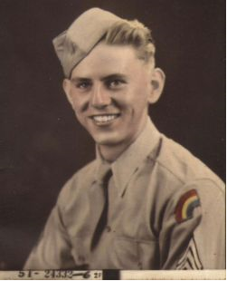 Floyd D. Cheatham, Jr., from Deland, Florida, killed in action January 13, 1945 in the Battle of the Bulge