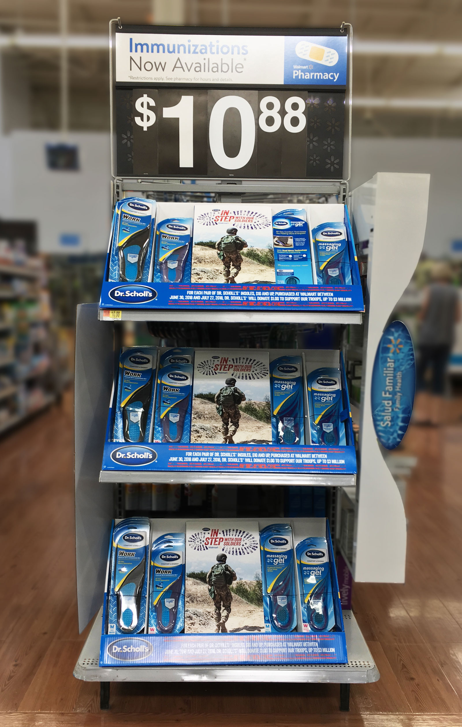 Walmart Campaign Product Display EndcapLight