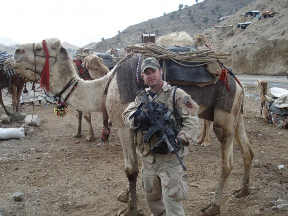 U.S. Army Master Sgt. Matthew Williams assigned to 3rd Special Forces Group (Airborne), stands outside of a local market place in Eastern Afghanistan, December 2007. (Photo Credit: Courtesy of Master Sgt. Matthew Williams)