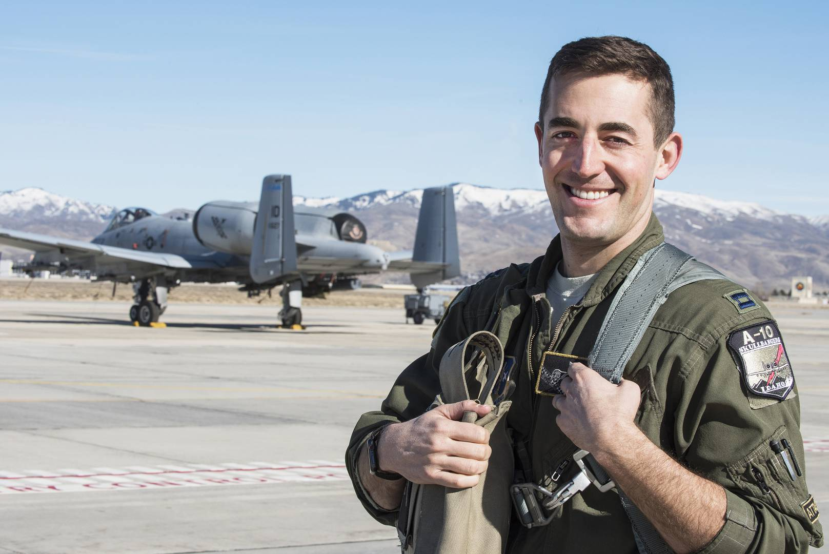 Spend a day flying with Capt. Mike Shufeldt, one of the Idaho National Guard's A-10 Thunderbolt II pilots, and feel firsthand what it is like to be an A-10 fighter pilot. Photo by Master Sgt. Becky Vanshur