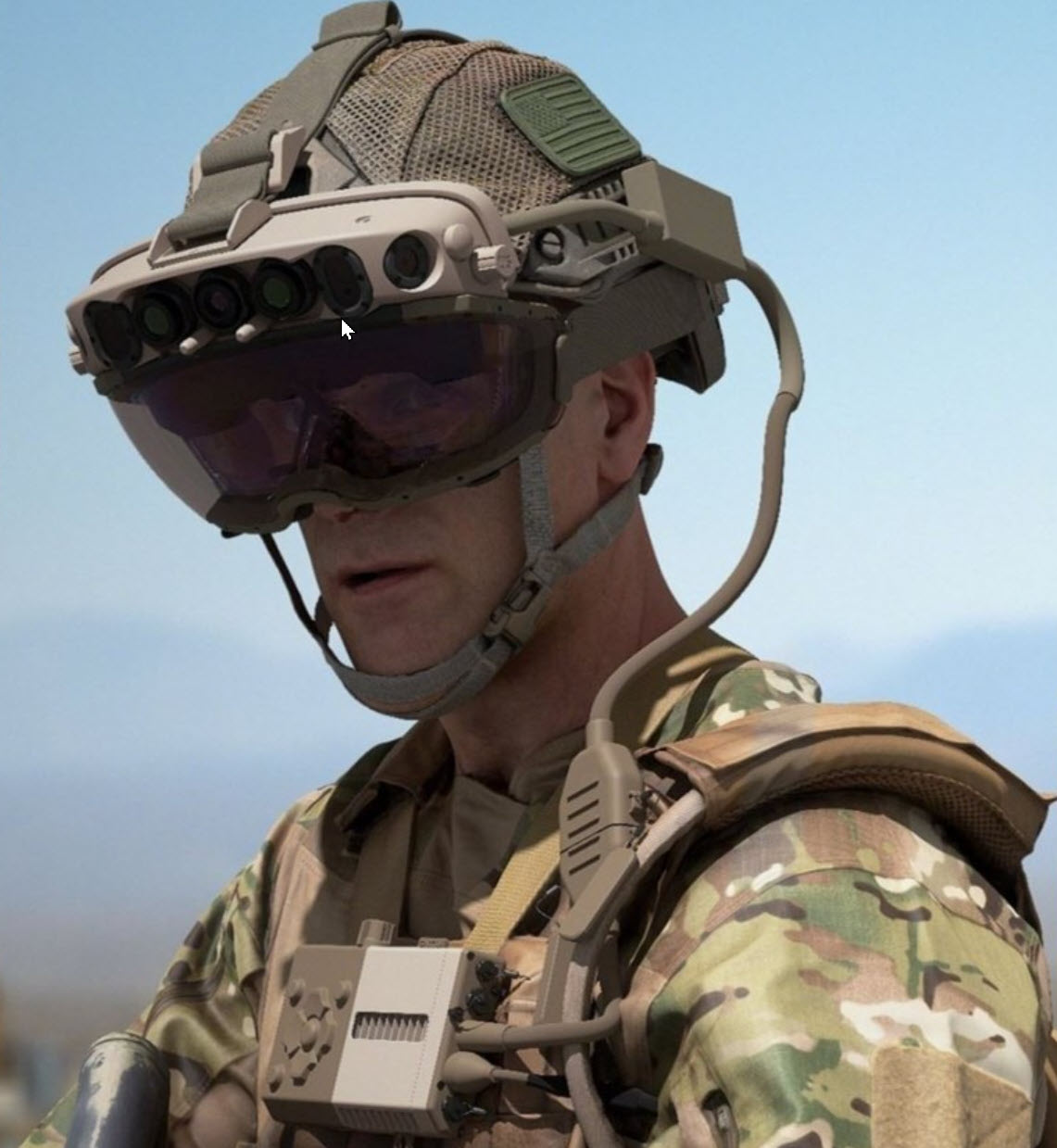 Capability Set 3 (CS 3) military form factor prototype of the Integrated Visual Augmentation System (IVAS). (Courtney Bacon)