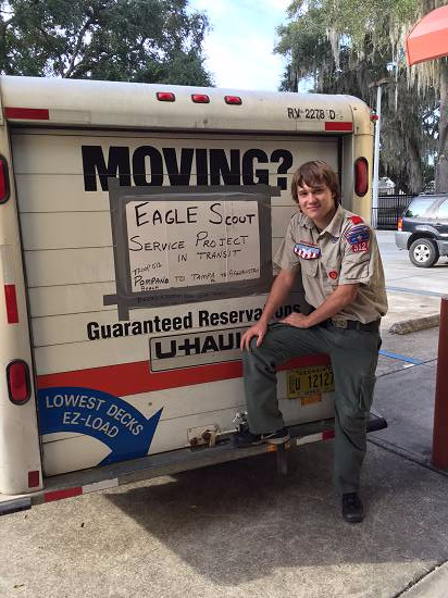 Eagle Scout collects donations for troops overseas  - supportourtroops.org
