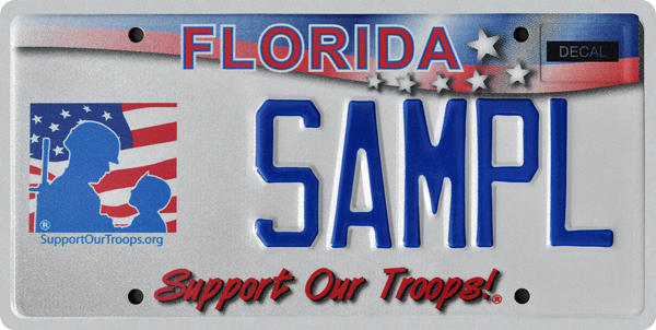 Buy support Our troops Florida License Plate Online